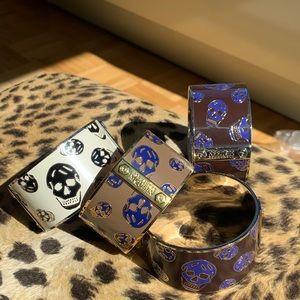 Bracelets by Alexander McQueen Skulls  enamel